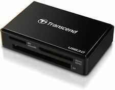 TRANSCEND CARD READER WRITER MULTI RDF8 F8 BLACK USB 3.0 DATA RECOVERY NEW FAST