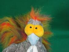 RARE SIGKID GERMANY RAINBOW TAIL POLKADOT FEET GRAY TURKEY BIRD PLUSH COLLECTIBL