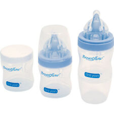 THE FIRST YEARS BREASTFLOW TECHNOLOGY 5OZ BPA FREE BOTTLE*3 SET LEARNING CURVE