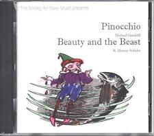 Society for New Music: Pinocchio & Beauty and the Beast (CD, LIKE NEW)