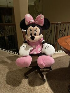 """Giant Disney Character Stuffed Toy Minnie Mouse Plush 42"""" Kids Baby NWOT"""