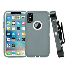 For iPhone X XR XS Max Shockproof Rugged Case +SCREEN w/ Belt Clip fit Otterbox
