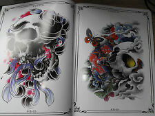 tattoo designs flash book a4 size jap mix dragons koi skulls and birds very nice