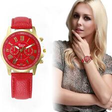 Women's Fashion Watch Geneva Roman Numerals Leather Analog Quartz Wrist Watch