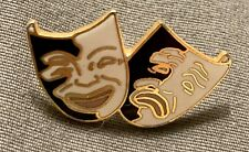 Theater Pin Comedy/Tragedy Tie Tac Lapel Pin