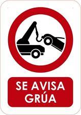 Señaletica Para Exteriores Se avisa grua Tamaño A4 (29,7x21cm) Señalitica en PVC