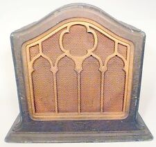 "vintage * Working  FADA CATHEDRAL MAGNET 8"" SPEAKER w/ GOOD DRIVER - 13"" SHELL"