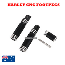 Black CNC footpegs shifter peg footrest Harley Sportster Touring Dyna Softail