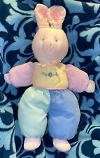 EDEN Vintage 80's Baby's First BUNNY Rabbit Lovey Easter Plush Stuffed Washable