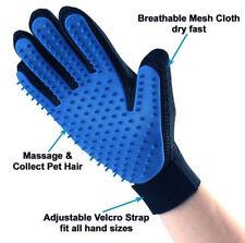 Pet Hair Remover Glove Brush Dog Cat Grooming Massage Soft Bath Shedding Glove