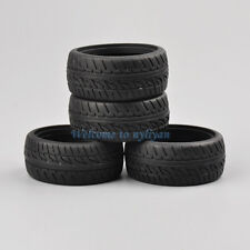 4X Rubber Racing Tyres Tires PP0150 For 1:10 On-Road Car HSP HPI W:26mm D:62.5mm