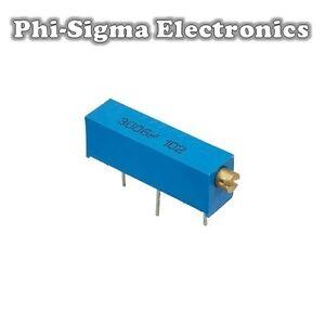5 Pack - 3006 Multi-turn Potentiometers (Variable Resistors/Preset/Trimmer/Pot)