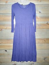 Soft Surroundings Verdot Maxi Eggplant Purple Womens Petite Small Dress