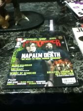 terrorizer magazine issue 256 napalm death cover venom marduk no cd