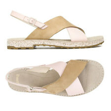 CAMPER PimPom Crisscross Slingback SANDALS 40 10 Beige Pastel Pink Leather NEW
