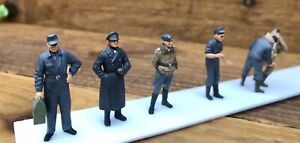 1/48 Luftwaffe Crew Figures Built & Painted X 7 For German Ww2 Airfield Diorama