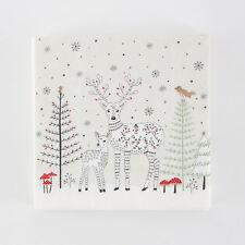 Sass & Belle Pack 20 Winter Forest Folk Deer Paper Napkins Party Fun Tableware