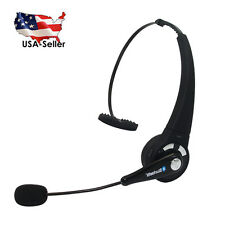 Wireless Bluetooth Headset Truck Driver Stereo Noise Canceling Headphones w/ Mic