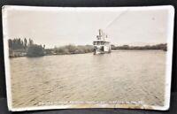 Pelican Bay Klamath Co Oregon Winema Steamer Steamboat Ship RPPC Postcard Antq