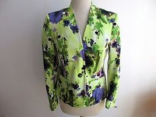 Evan Picone Jacket Blazer Stretch Green Purple Size 8  NWOT #R3