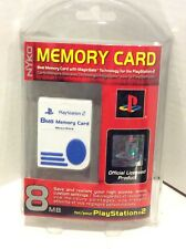 Nyko Official Sony PlayStation 2 PS2 8MB MagicGate Memory Card White Rare