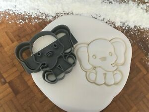 Detailed Baby Elephant Cookie Cutter / Fondant / Icing