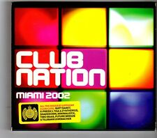 (HK368) Club Nation, Miami 2002, 40 tracks various artists - 2002 double CD