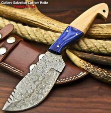 Handmade Damascus Blade Hunter Camping Full Tang Tracker Knife