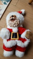 Robert Raikes 1989 Santa Bear Signed #6625 Christmas Edition Wood Carved Jointed
