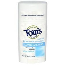 Tom's of Maine Natural Deodorant Stick - Unscented - 2.25 oz.  (3 PACK)