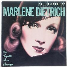 MARLENE DIETRICH: Complete Decca Recordings MCA Collectibles VINYL LP Rare