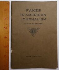 RARE Book 1st Fakes in American Journalism 1914 - Fake News Socialist Buffalo NY