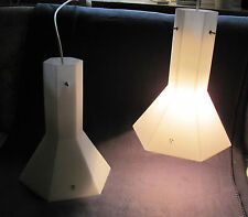 2 Basique Putzler desgn plafond Lampes Mat Blanc 6 rectangulaire