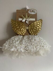 Newborn - 12 Months Baby Girl Angel Wings Tutu Headband Costume Photography Prop