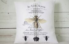 "Acacia Bee - 16"" cushion cover French shabby vintage chic - UK handmade"