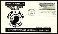 1984 Vietnam Veterans Memorial Sc 2109 1st Veterans Vigil Society cachet