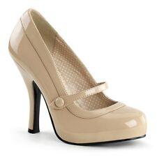 Pleaser Shoes Cutiepie-02 Mary Jane Pin Up High Heels Platform Fancy Dress Retro