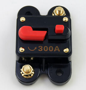 (1) Circuit Breaker 300 Amp with gold plated terminals manual Reset / Self Test