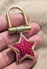 Designer Abiste Red Crystal Star Gold Keychain