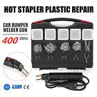 Hot Stapler Car Bumper Fender Fairing Welder Gun Plastic Repair Kit +400 Staples