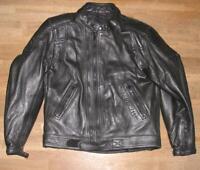 LOOKWELL Herren- Motorrad- Lederjacke / Bikerjacke / Jacke in schwarz ca. Gr. 48