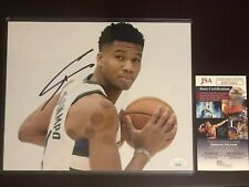 Giannis Antetokounmpo Signed Milwaukee Bucks 8x10 Autographed Photo JSA COA
