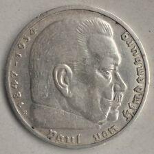 Deutsches Reich 5 Reichsmark 1939 B mit HK Zensiert Silber