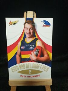 2020 AFL SELECT DRAFT PICK RILEY THILTHORPE ROOKIE CARD RC CROWS #147 2021