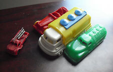 Lot of 4 Vintage Plastic Cars and Trucks Renwal Gilmark Others