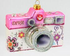 Christmas Ornament, 35mm Camera, Ladies, Glass