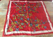 Vintage Japanese Hand Rolled Silk Ladies Scarf