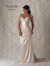 Elizabeth De Varga Silk Wedding Gown, Size 12
