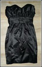 $450 RACHEL GILBERT designer STRAPLESS club DRESS 0 / 6 BLACK silk blend EVENING