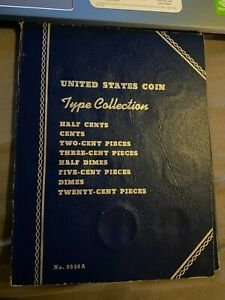 Set of 27 US Type coins, Large Cent through Half Dollars 1822-1964